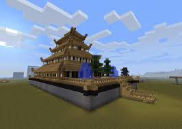japanese style castle with schematic minecraft project