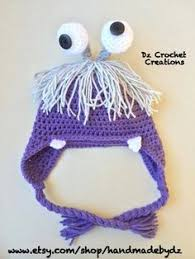 crochet boo monster costume beanie littlegattscrochet