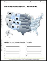 us map quiz pdf western united states map quiz free to print pdf file grades