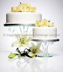 elegant scroll design wedding cake stand crystal clear acrylic