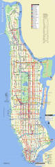 New York City Map With Attractions by Manhattan Bus Travel Routes New York Map