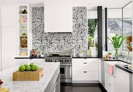 wallpaper kitchen ideas white kitchen cabinets and modern wallpaper ideas for decorating
