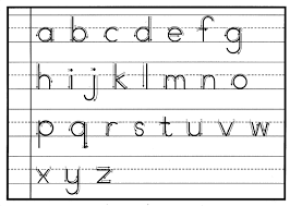 Letter Recognition Worksheets Print Handwriting Tip 1 Handwriting Lower Case Letters And