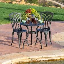 Bistro Patio Table And Chairs Set Outdoor Bistro Set