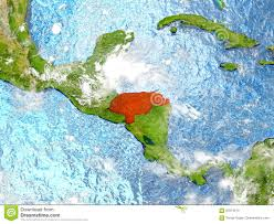 Honduras On World Map by Honduras On Map With Clouds Stock Illustration Image 87074010