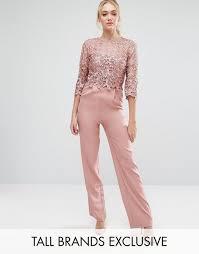 lace top jumpsuit all premium lace top tailored jumpsuit