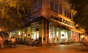 free images cafe structure street night house town