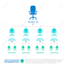 free template for organizational chart editable infographic template of organization chart with office editable infographic template of organization chart with office chair icons and sample text multicolored version