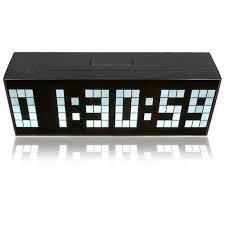 riorand digital large big jumbo led wall desk alarm clock white