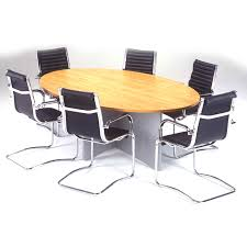Timber Boardroom Table Desk Oval Meeting Table Oval Conference Table For 6 Oval
