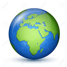 Africa And Europe Map by World Globe Map Africa And Europe Global Communication Concept