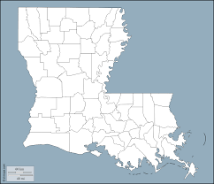 Louisiana Map Of Parishes by Louisiana Free Map Free Blank Map Free Outline Map Free Base