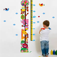 Animal Height Chart Wall Stickers Animals Wall Decals - Animal wall stickers for kids rooms