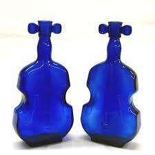 Cobalt Blue Vases Pr Antique Cobalt Blue Fiddle Vases
