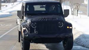 jeep truck spy photos 2019 jeep wrangler jt pickup truck spy photos 2016 2017 truck