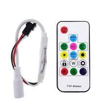 dc 5v ws2812 12v ws2811 rf led light wireless remote mini