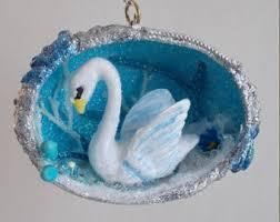 swan ornament etsy