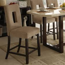 favorable upholstered counter height chairs in small home decor