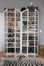 Shoe Closet With Doors White Freestanding Shoe Cabinets With Glass Doors And Zebra