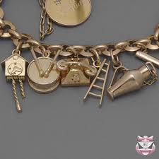 charm bracelet gold vintage images Vintage rose gold charm bracelet jewelry4me pinterest jpg