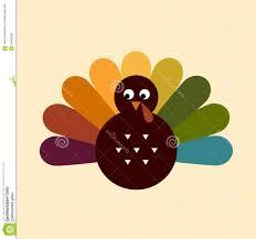 retro thanksgiving turkey colorful vector illustration