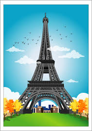 photo collection eiffel tower drawing color