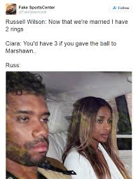 Russell Wilson Wife Meme - russ finally smashed ciara s goodies the memes are hilarious bossip