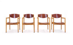 set of four jens risom stacking chairs dining height u2014 retro inferno