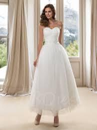 ankle length wedding dress cold shoulder dresses for wedding