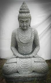 statues de jardin en pierre statue en pierre volcanique collier déco zen de jardin 1m20