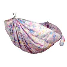 grand trunk double parachute nylon hammock 20oz tie dye one size