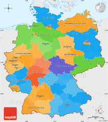 political simple map of germany single color outside
