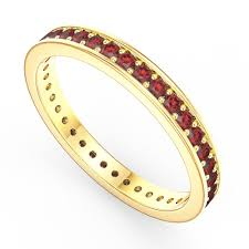 eternity rings gold images Promise ruby 18ct yellow gold channel full eternity ring jian jpg