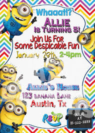 diy minion invitations minion birthday party invitation ideas cogimbo us