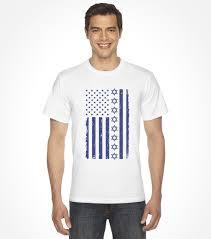 Flag Clothing Jewish U S A And Israel Flag Shirt Israeli T