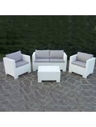divano giardino salotto da esterno giardino effetto rattan set 4 pezzi completo