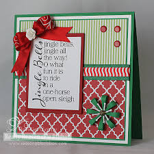 jingle bells christmas card with pretty ribbon trims u2013 make time