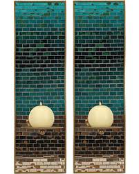 Mosaic Wall Sconce Deals On Turquoise Mosaic Glass Luster Sconces