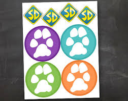 dog tag accents u0026 diy paw print scooby banner printable jpeg