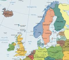 northern europe destination maps in map of northen map of