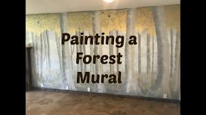 Wall Mural Forest Sunrise Wall Rubber Ducky Shop Episode 3 Hand Painting A Forest Wall Mural