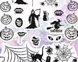 halloween nail decal etsy