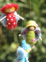 a rainbow fairies mobile needle felted by made4ubymagic on etsy