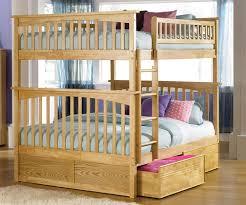 Columbia Full Over Full Bunk Bed NaturalMaple Bedroom Furniture - Full sized bunk beds