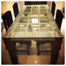 dining table made of an old door so cool once upon a time