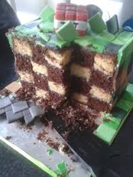 minecraft cake with nether portal herobrine and of course cake