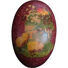 vintage paper mache easter eggs antique german paper mâché baby easter egg candy