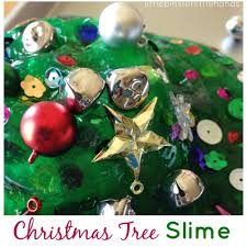 christmas tree homemade slime christmas science activity for kids