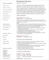 Job Resume Objective Statement Examples by Receptionist Resume Objective 7 Examples In Word Pdf