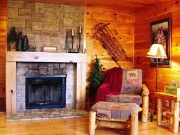 How To Decorate A Log Home Creekside Log Cabin In The Poconos Living Pocono Cozy Room Loversiq